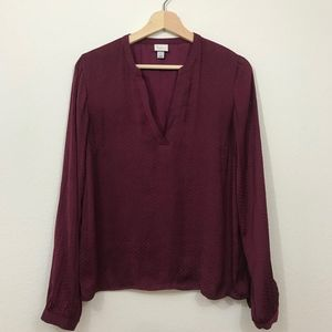 Target A New Day Burgundy Popover Blouse Size S
